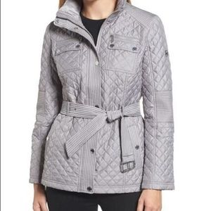 NWT Belted quilted jacket